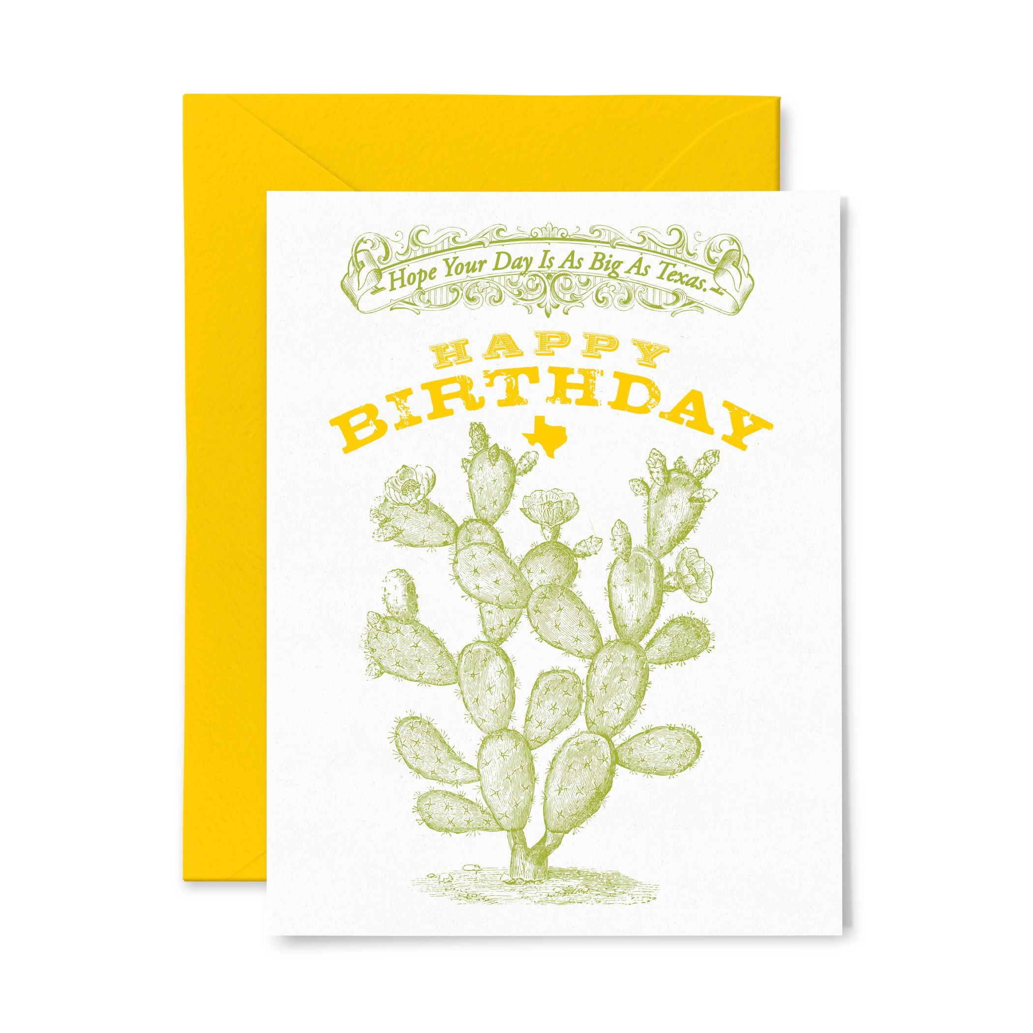 Cactus | Birthday | Letterpress Greeting Card