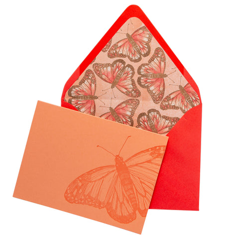 Folded Fancy Notecards | Butterfly