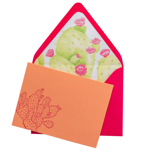 Folded Fancy Notecards | Cactus