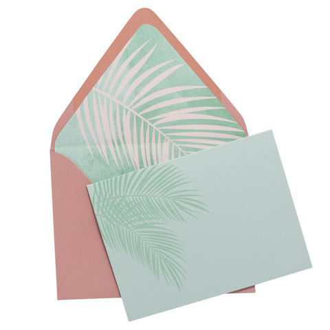 Folded Fancy Notecards | Palm