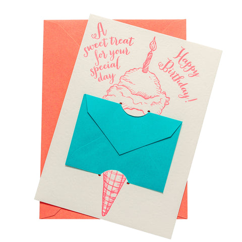 Gift Card Holder | Ice Cream