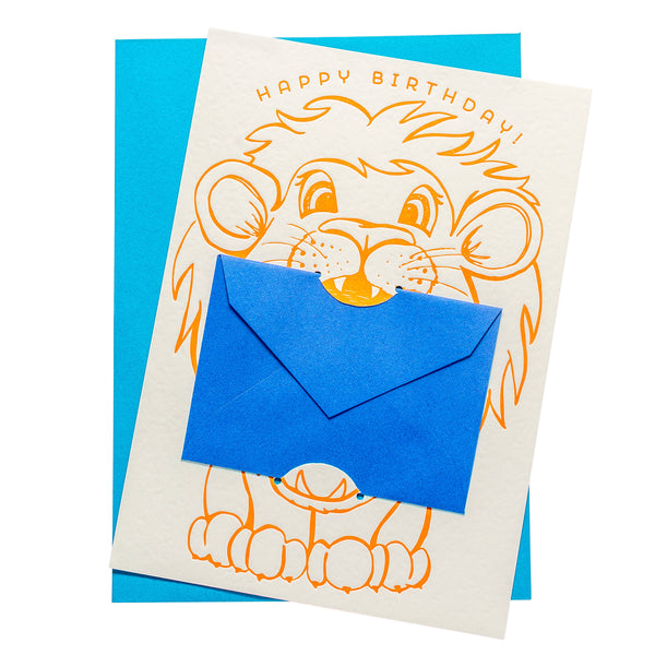 Gift Card Holder | Lion Birthday