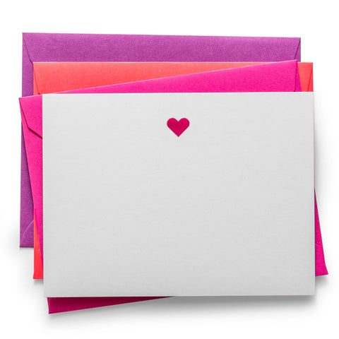 Laser Cut Notecards | Heart