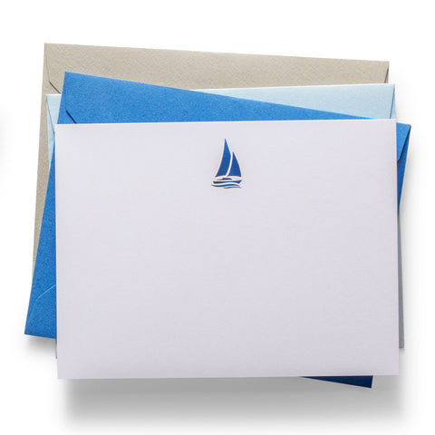 Laser Cut Notecards | Sailboat