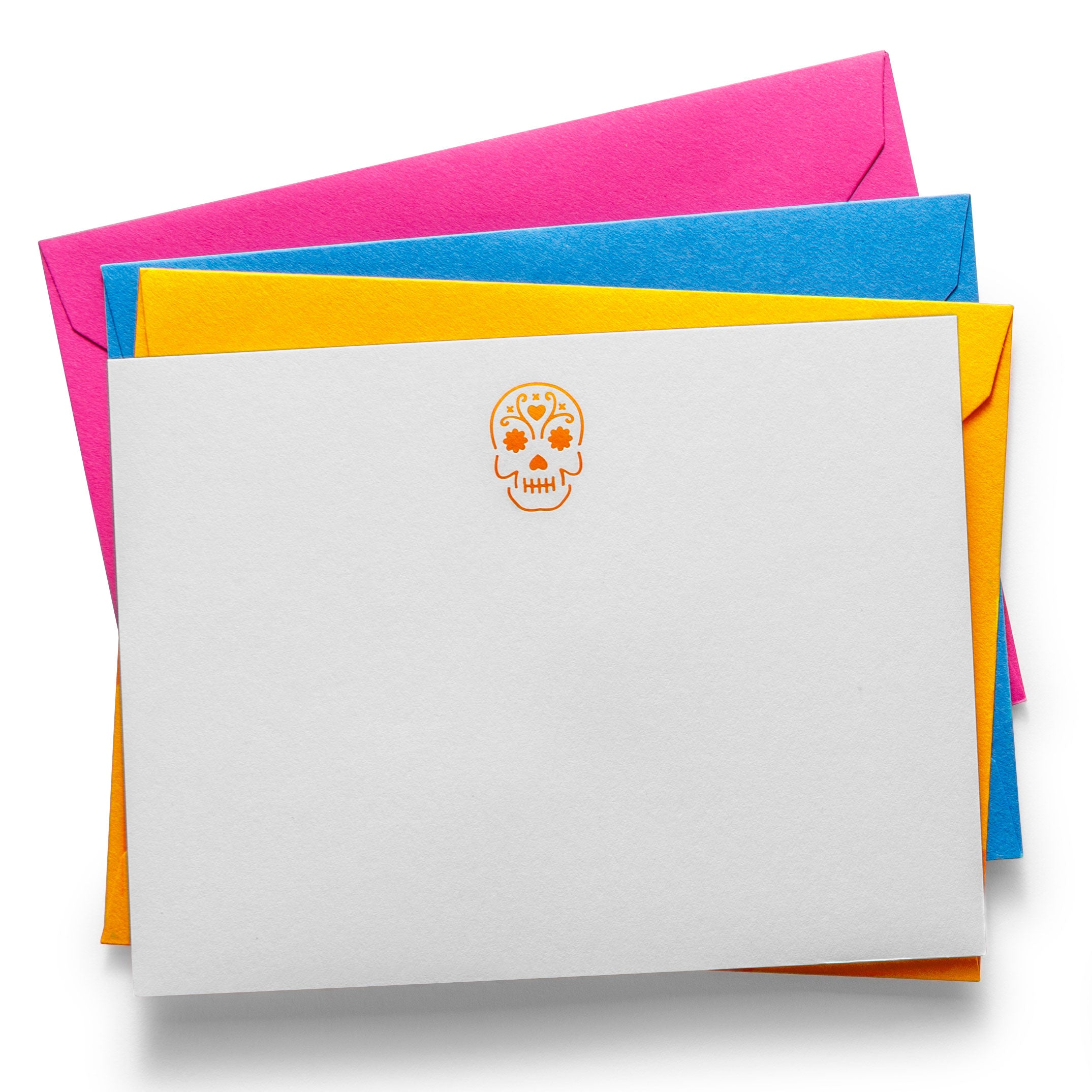 Laser Cut Notecards | Skull