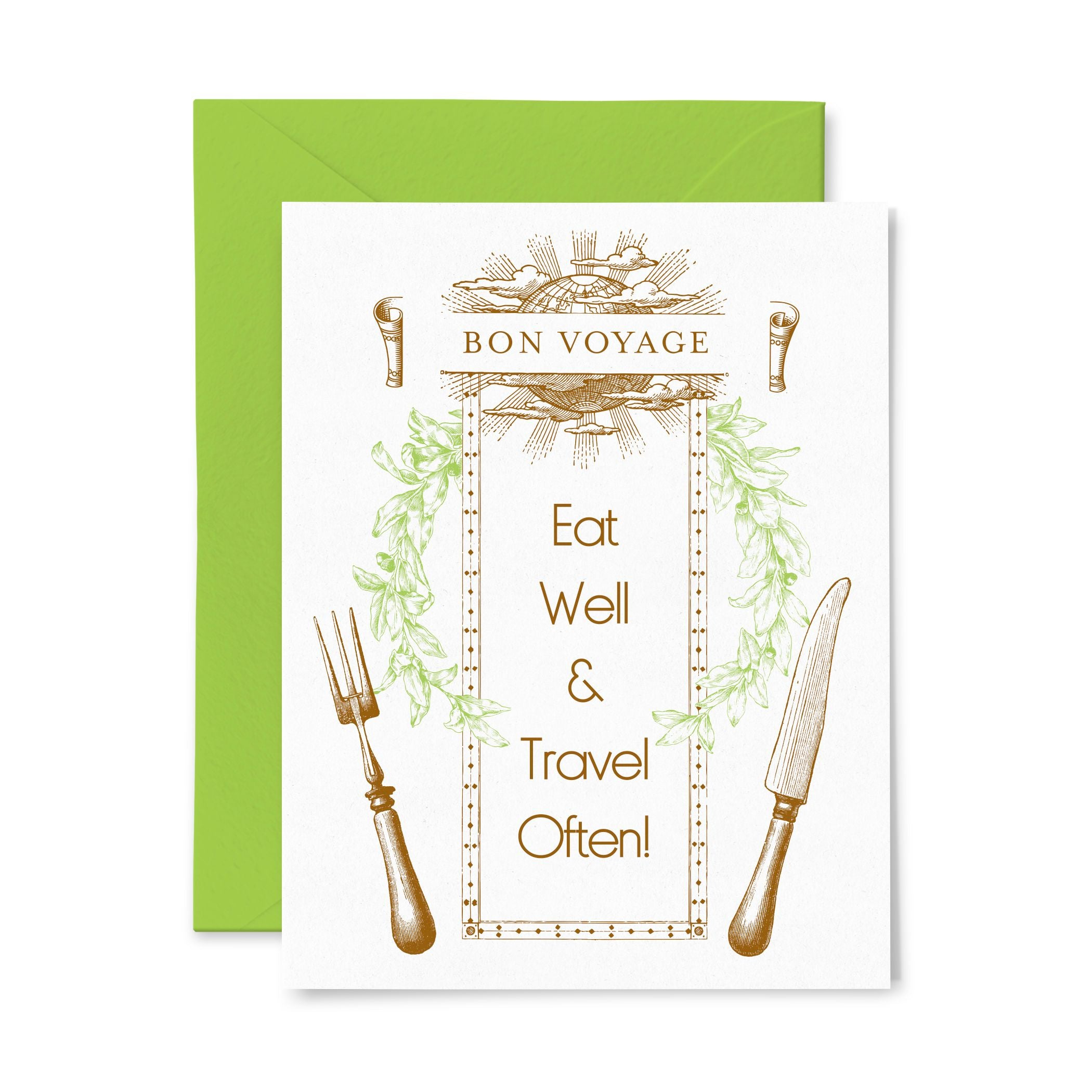 Bon Voyage | Multi-Use | Letterpress Greeting Card