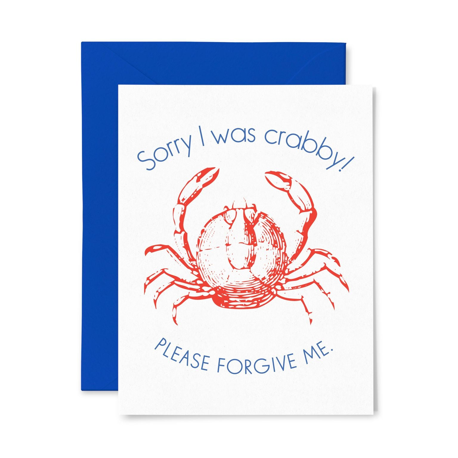 Sorry I Was Crabby | Multi-Use | Letterpress Greeting Card