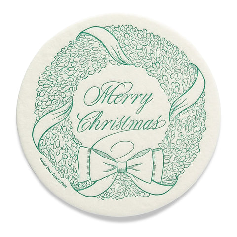 Extra Thirsty Coasters | Wreath