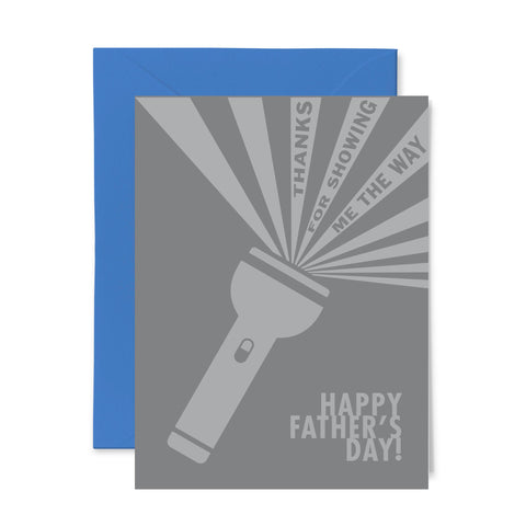 Flashlight | Father's Day | Letterpress Greeting Card