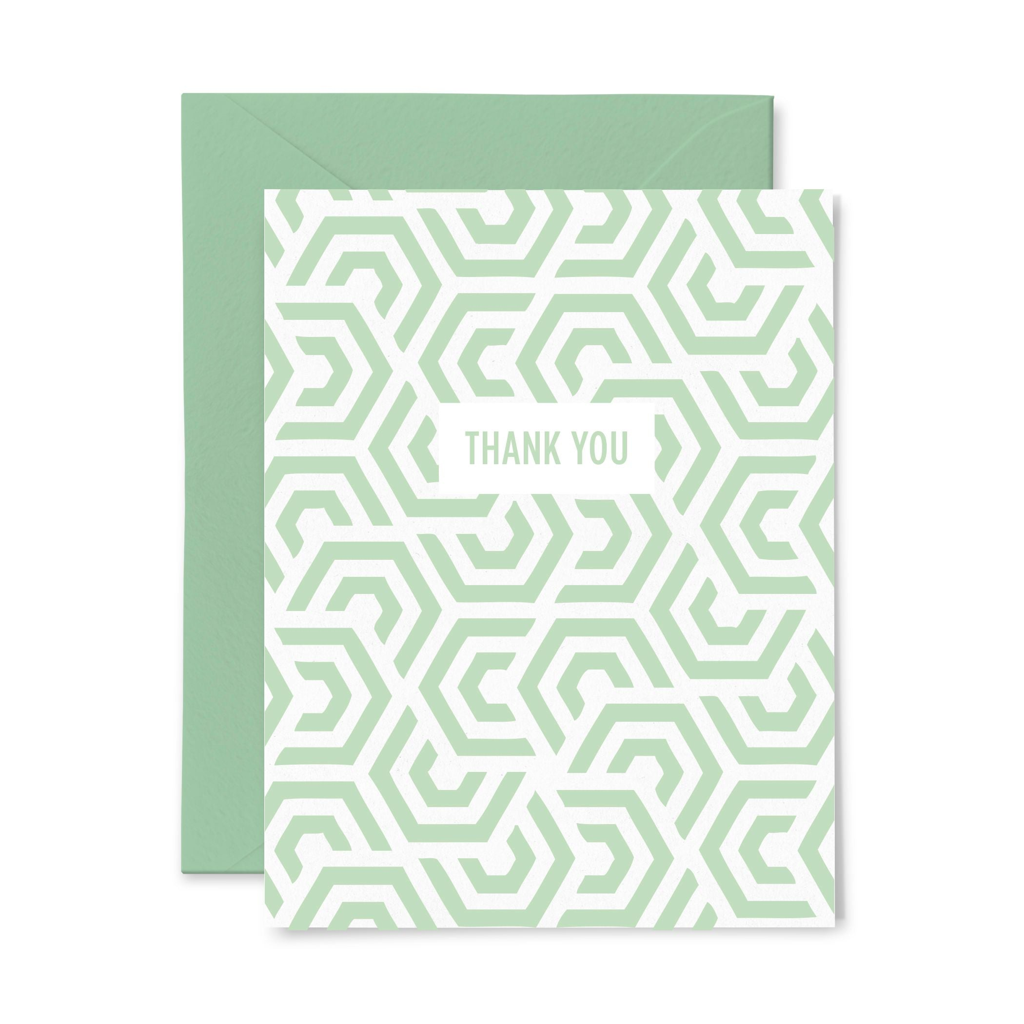 Thank You Mint | Thank You | Letterpress Greeting Card
