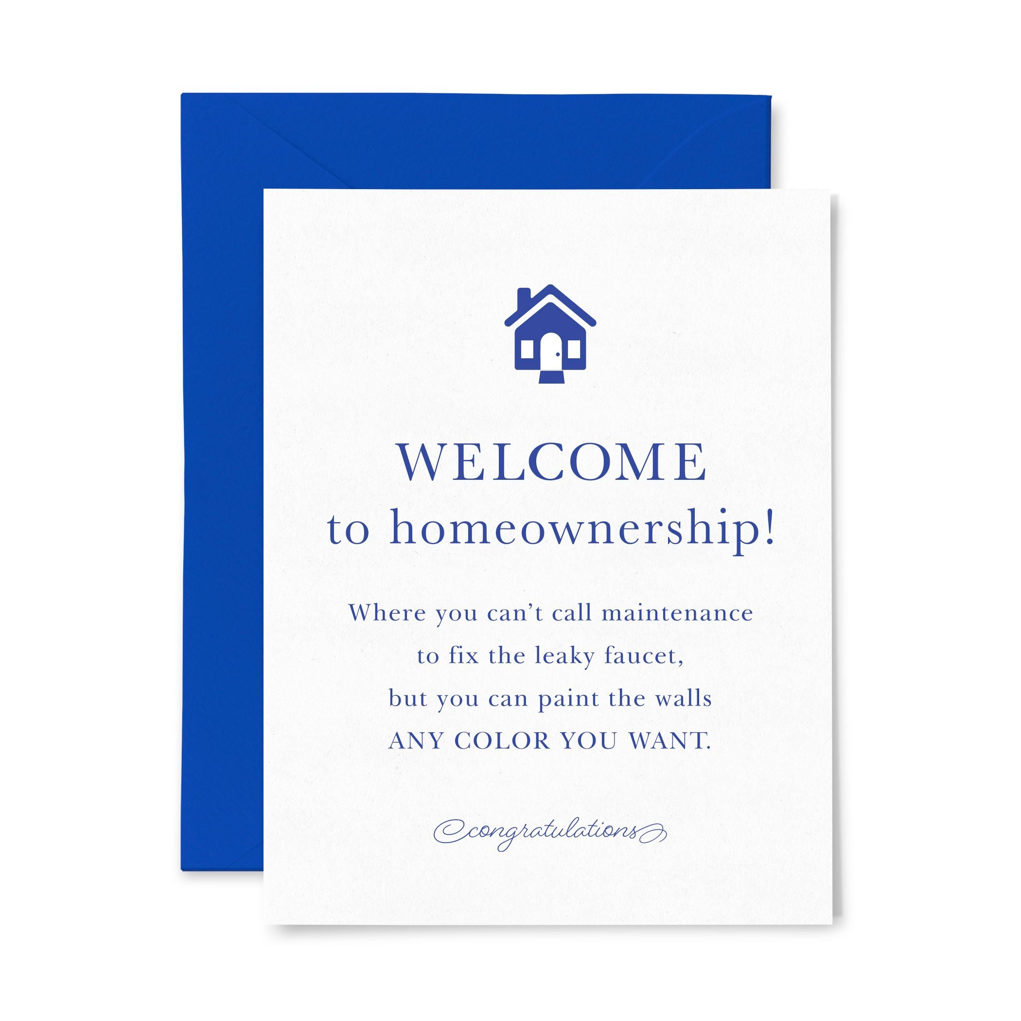 Homeownership | Multi-Use | Letterpress Greeting Card