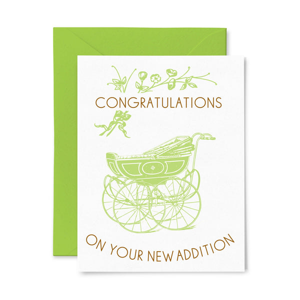 New Addition | Baby | Letterpress Greeting Card