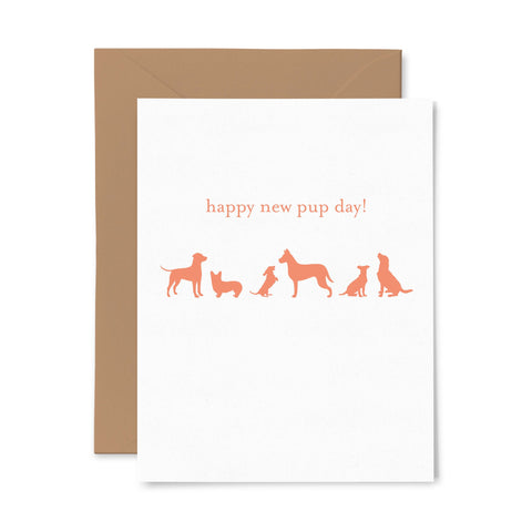 New Dog Day | Multi-Use | Letterpress Greeting Card