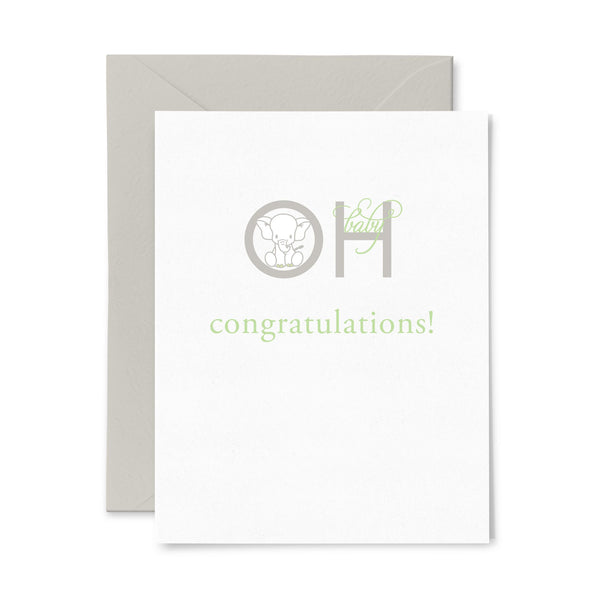 Oh Baby | Baby | Letterpress Greeting Card