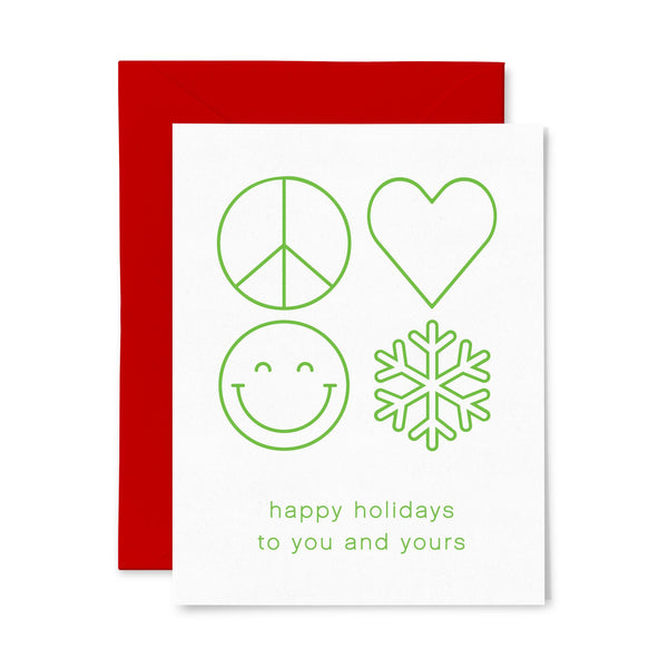 Peace Love | Holiday | Letterpress Greeting Card