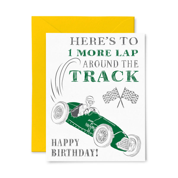 Race Car | Birthday | Letterpress Greeting Card