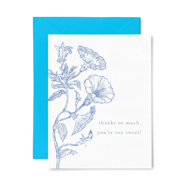 Thanks Sweet | Thank You | Letterpress Greeting Card