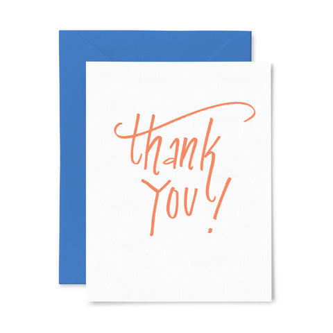 Thank You Orange | Thank You | Letterpress Greeting Card