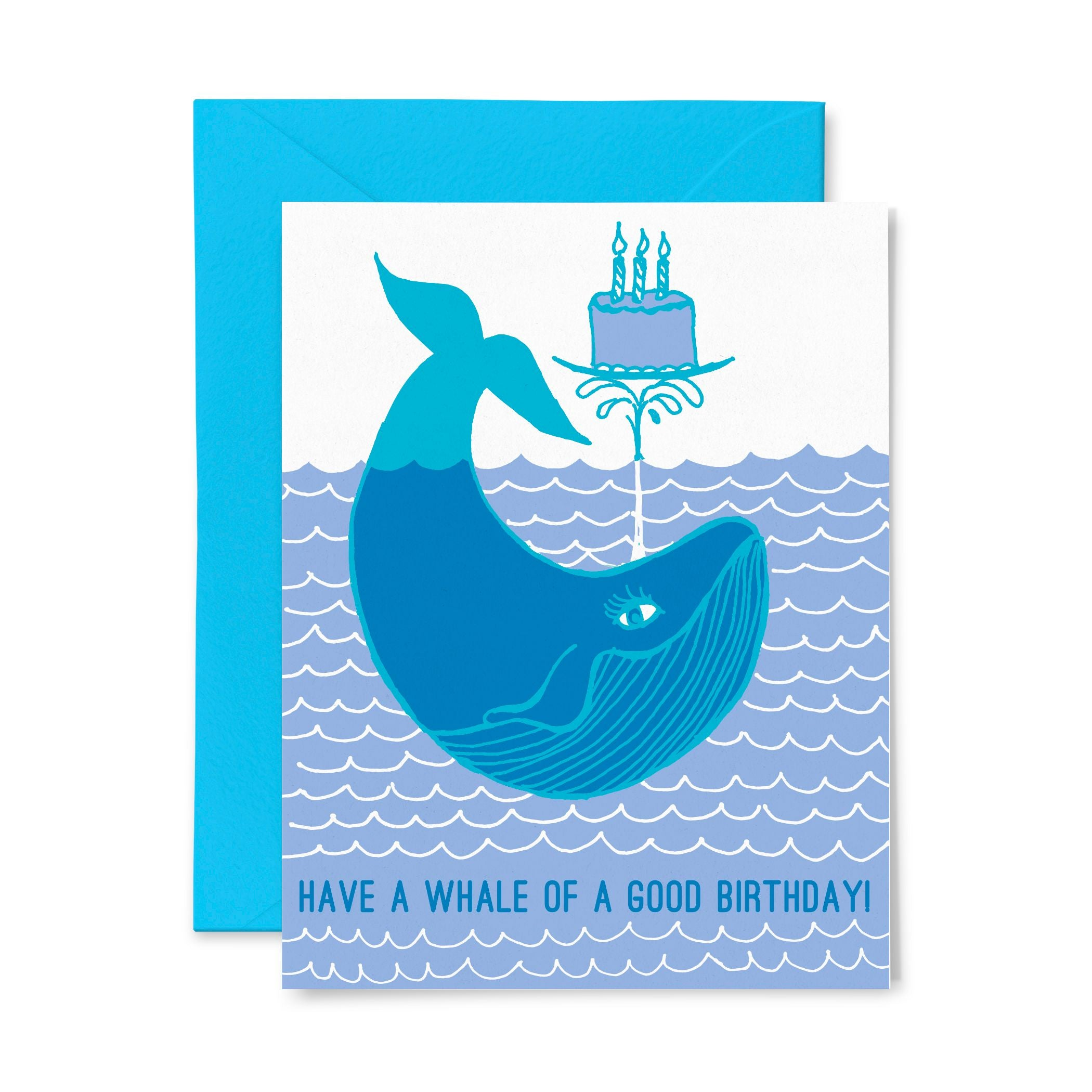 Whale Cake | Birthday | Letterpress Greeting Card