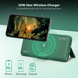 Power Bank, GIM 20000mAh Portable Charger, 10W Wireless Charger, PD & QC 3.0 & 22.5W Super Fast Charging for iPhone, Samsung, Huawei and more