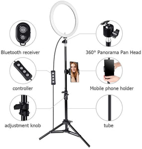 10 Inch Selfie Ring Light with 59 Inch Tripod Stand