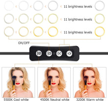 Load image into Gallery viewer, 10 Inch Selfie Ring Light with 59 Inch Tripod Stand