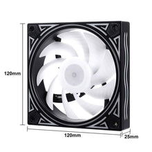 Load image into Gallery viewer, KB-11 RGB Case Fans 3 Pack 120mm