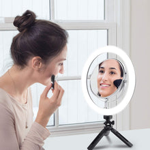 Load image into Gallery viewer, Double Sided Magnifying Makeup Mirror