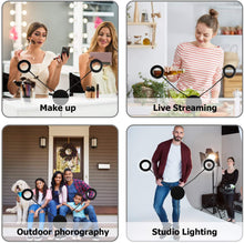 Load image into Gallery viewer, 4.6 Inch LED Ring Light Lamp with Tripod Stand