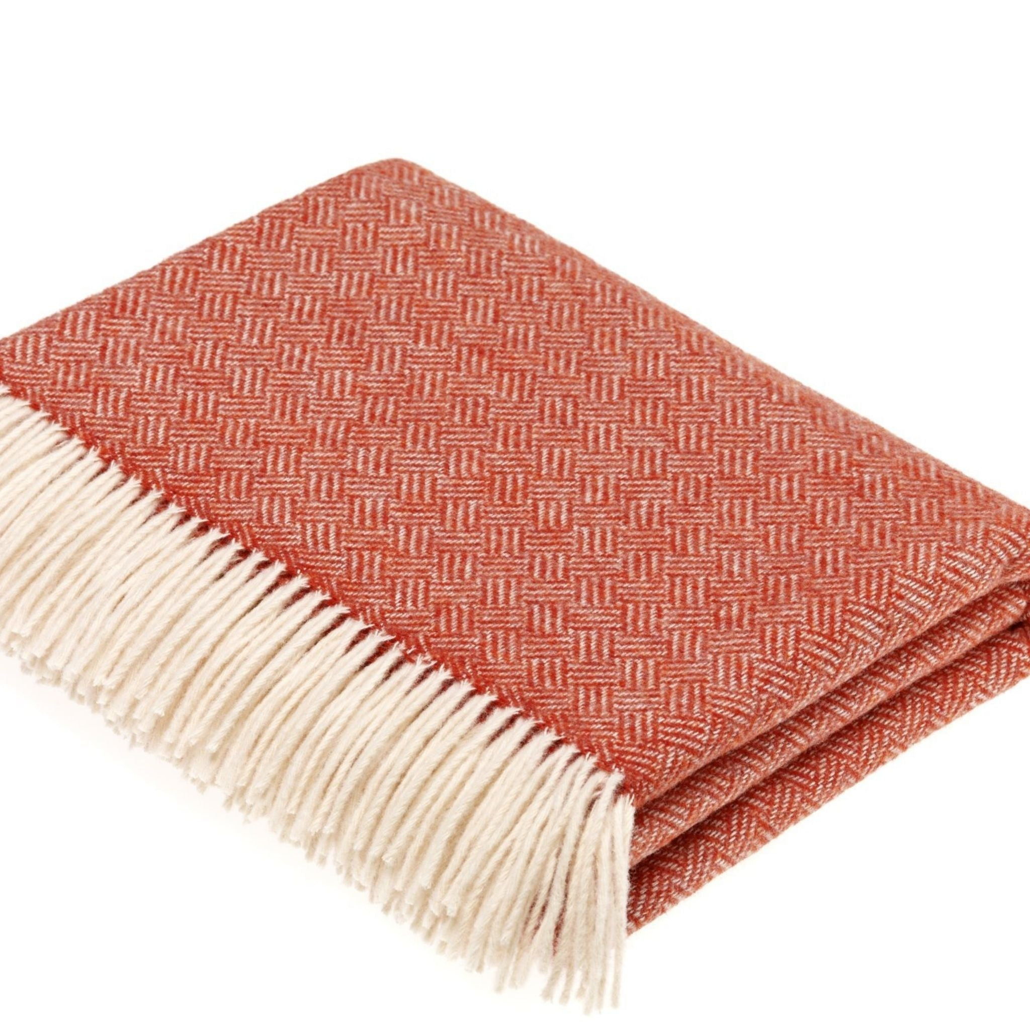 Merino Wool Throw - Parquet Collection Coral