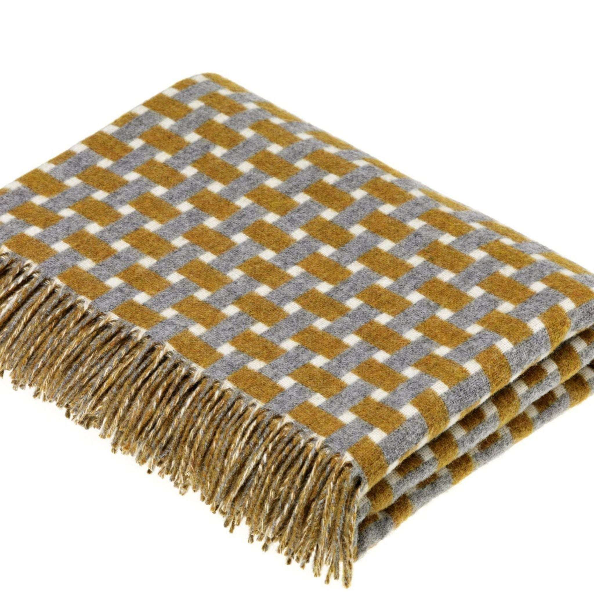 Merino Wool Throw - Rectangle Collection Gold