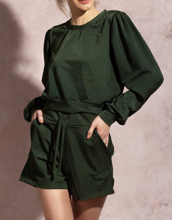 OLIVE LUX PULLOVER