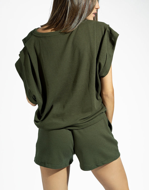 OLIVE HONEY BLOUSE