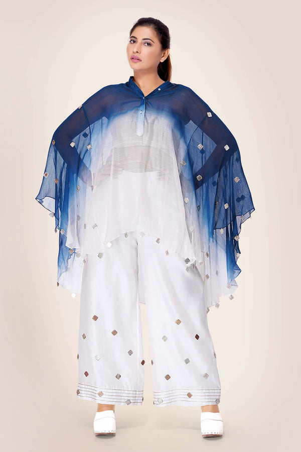 Ombre Kaftan Kurta with Flared Pants
