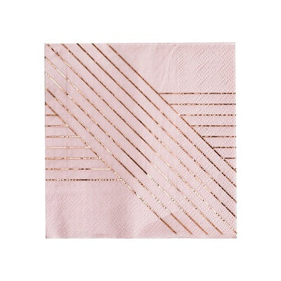 Amethyst Pink Cocktail Napkins (20 pack)