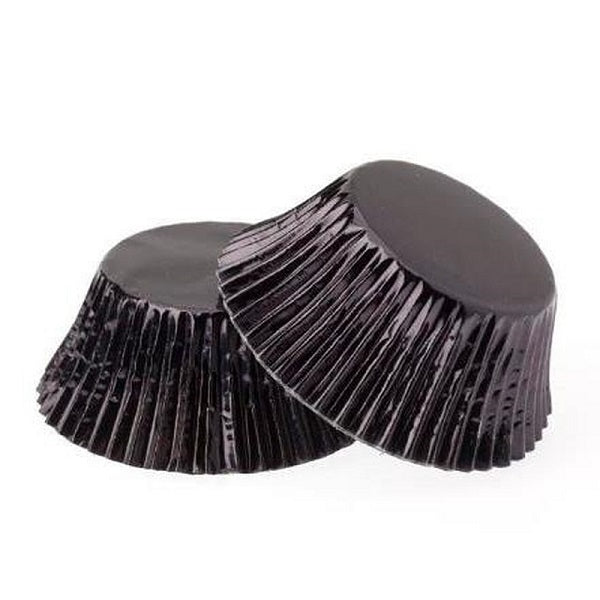 Metallic Black Cupcake Cases (50 pack)