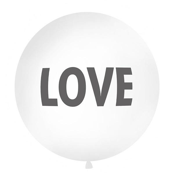 White Love Giant 1m Balloon