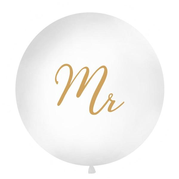 Gold Mr Giant 1m Balloon