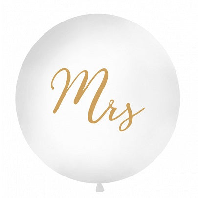 Gold Mrs Giant 1m Balloon