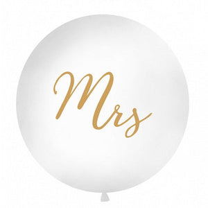 Load image into Gallery viewer, Gold Mrs Giant 1m Balloon