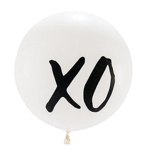 Load image into Gallery viewer, White XO Giant 90cm Balloon