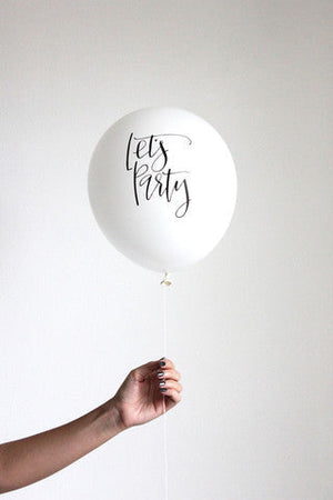 Let's Party White 30cm Balloons (3 pack)