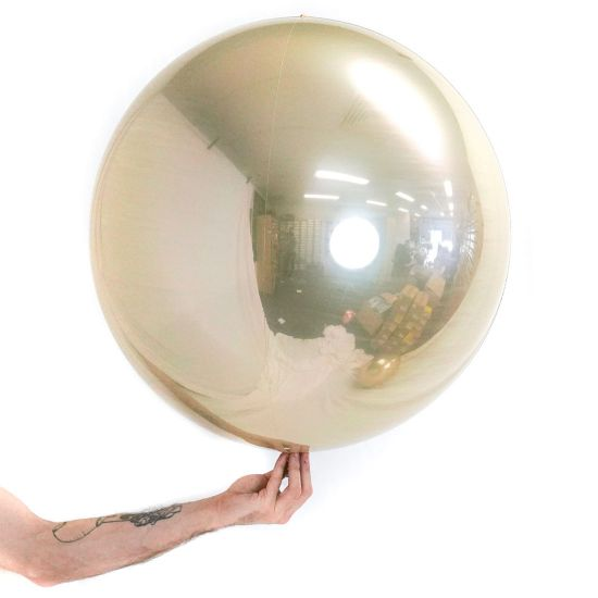 White Gold Balloon Ball (2 sizes)