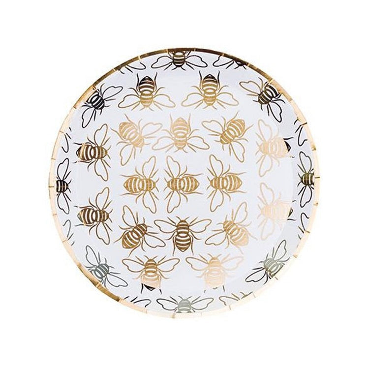 Gold Bee Dessert Plates (8 pack)