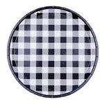 Black Gingham Plates (8 pack)