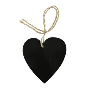 Mini Blackboard Heart Tags (10 pack)