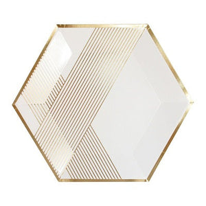 Load image into Gallery viewer, Blanc Hexagon Plates (8 pack)