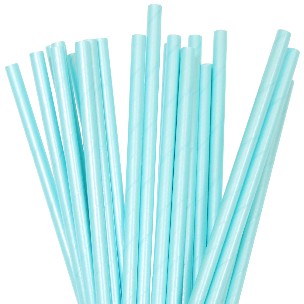 Load image into Gallery viewer, Blue Foil Straws (25 pack)