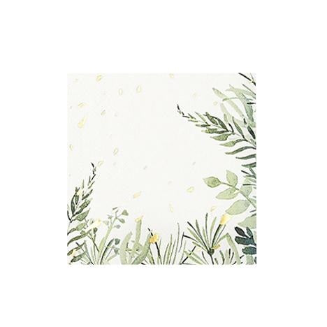 White Botanicals Cocktail Napkins (20 pack)
