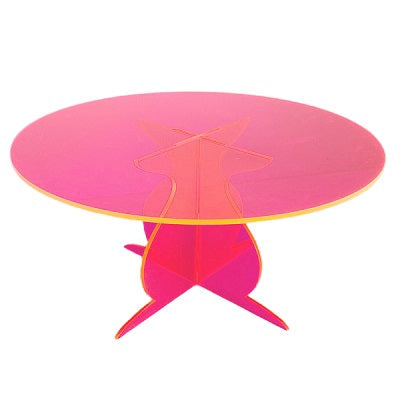 Neon Pink Cake Stand